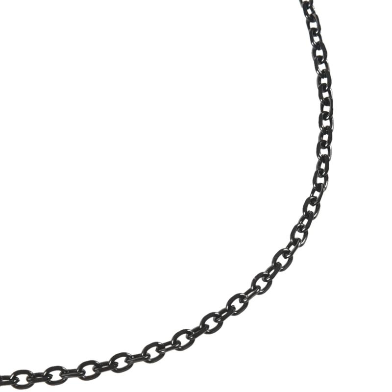 Acier Inoxydable Noir Collier de O-Lien l D7L5 Chaine de Bijoux pour Homme
