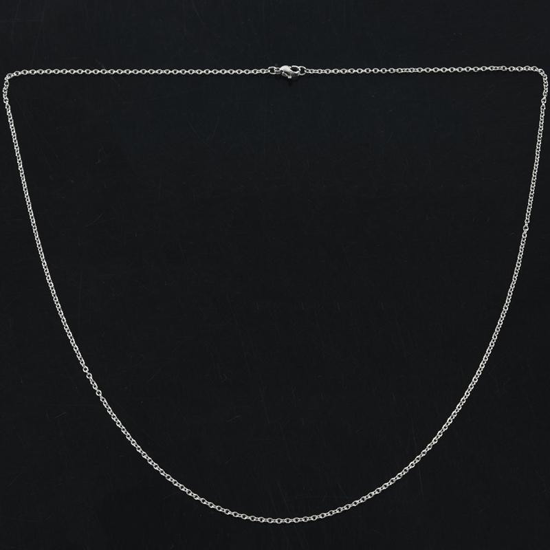 """Indexbild 11 - Schmuck Damen Kette,Edelstahl """"O"""" Halskette,Silber-Breite 2mm-Laenge 50cm W9X7"""