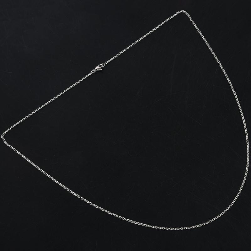"""Indexbild 14 - Schmuck Damen Kette,Edelstahl """"O"""" Halskette,Silber-Breite 2mm-Laenge 50cm W9X7"""