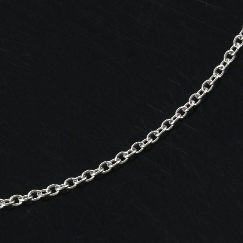 """Indexbild 17 - Schmuck Damen Kette,Edelstahl """"O"""" Halskette,Silber-Breite 2mm-Laenge 50cm W9X7"""
