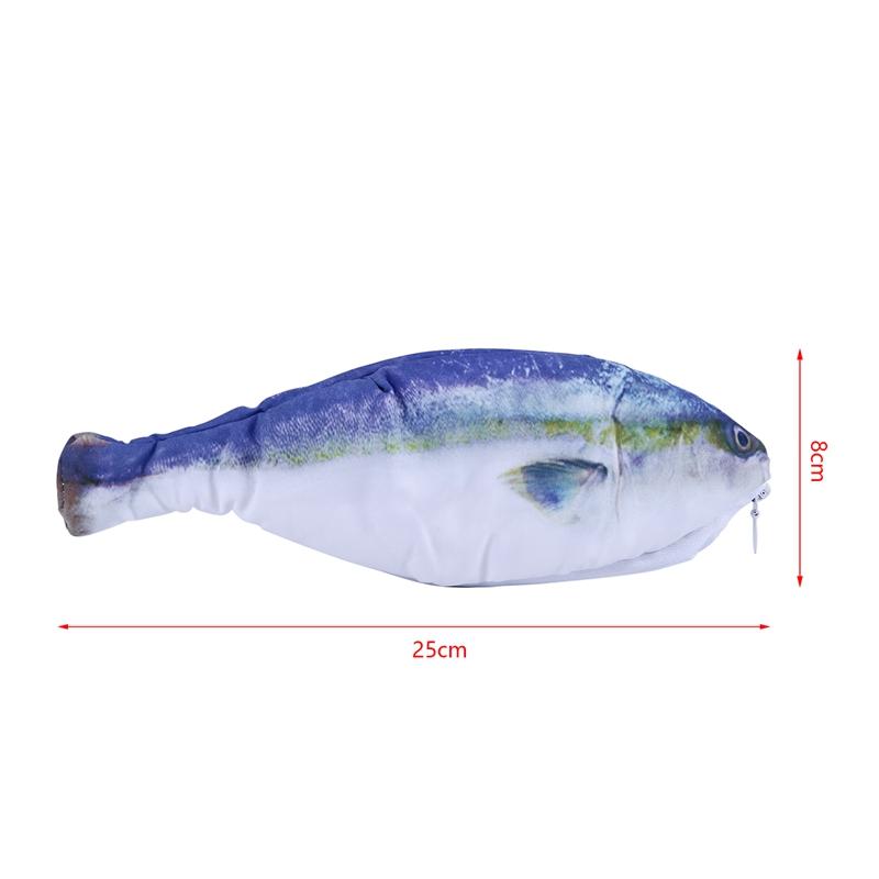 Fish-shaped-pencil-bag-pencil-case-box-fish-school-pen-case-originality-Sch-I7C9 thumbnail 19