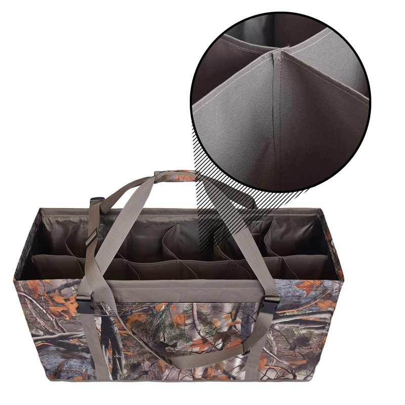 12-Slot-Ente-Lockvogel-Tasche-Geschlitzte-KoeDer-Taschen-mit-Verstellbarem-L7U4 Indexbild 5