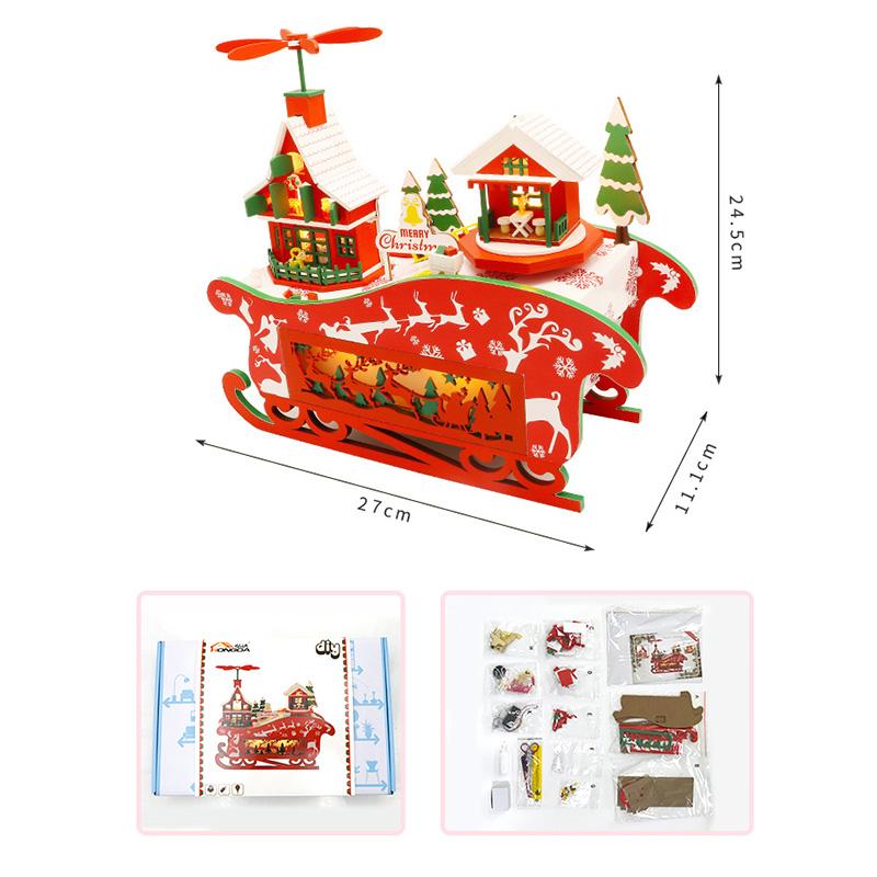 DIY-Puppen-Haus-HoeLzerne-Puppen-HaeUser-Miniatur-Puppen-Haus-MoeBel-Kit-mit-L-L7P7 Indexbild 2