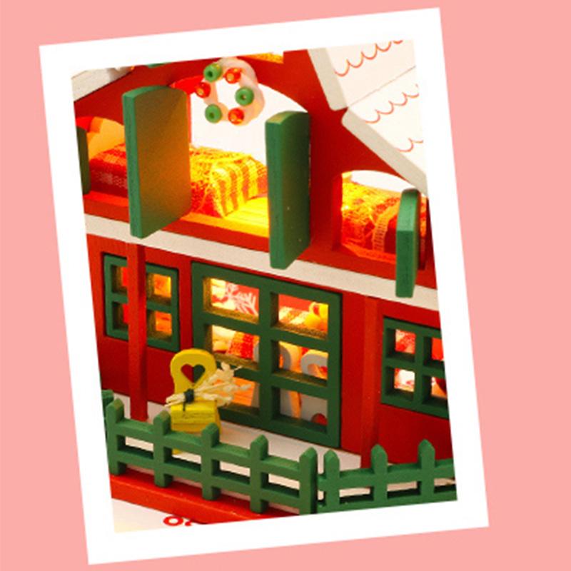 DIY-Puppen-Haus-HoeLzerne-Puppen-HaeUser-Miniatur-Puppen-Haus-MoeBel-Kit-mit-L-L7P7 Indexbild 6