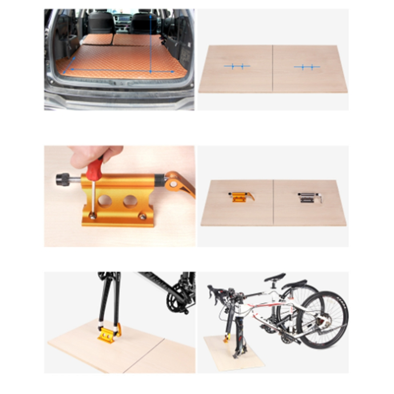 thumbnail 6 - Bike Fork Mount Bicycle Truck Bed Roof Bike Rack Bike Fork Mount Block TruckS6Q8