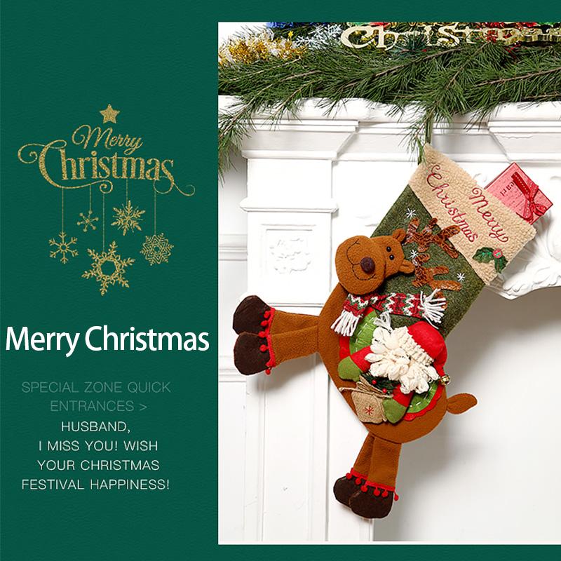 Weihnachtsstrumpf-GeschenktueTen-Weihnachtsschmuck-fuer-Zuhause-Neujahr-Gesch-G9K9 Indexbild 3