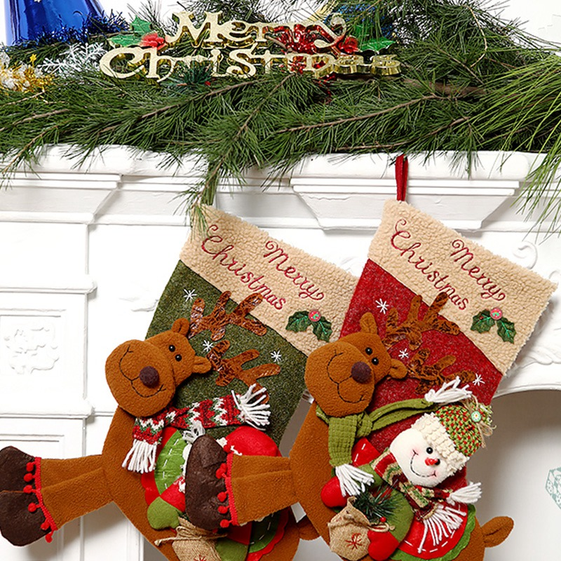 Weihnachtsstrumpf-GeschenktueTen-Weihnachtsschmuck-fuer-Zuhause-Neujahr-Gesch-G9K9 Indexbild 4