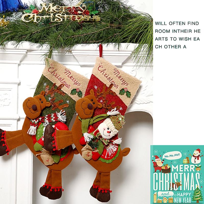 Weihnachtsstrumpf-GeschenktueTen-Weihnachtsschmuck-fuer-Zuhause-Neujahr-Gesch-G9K9 Indexbild 5