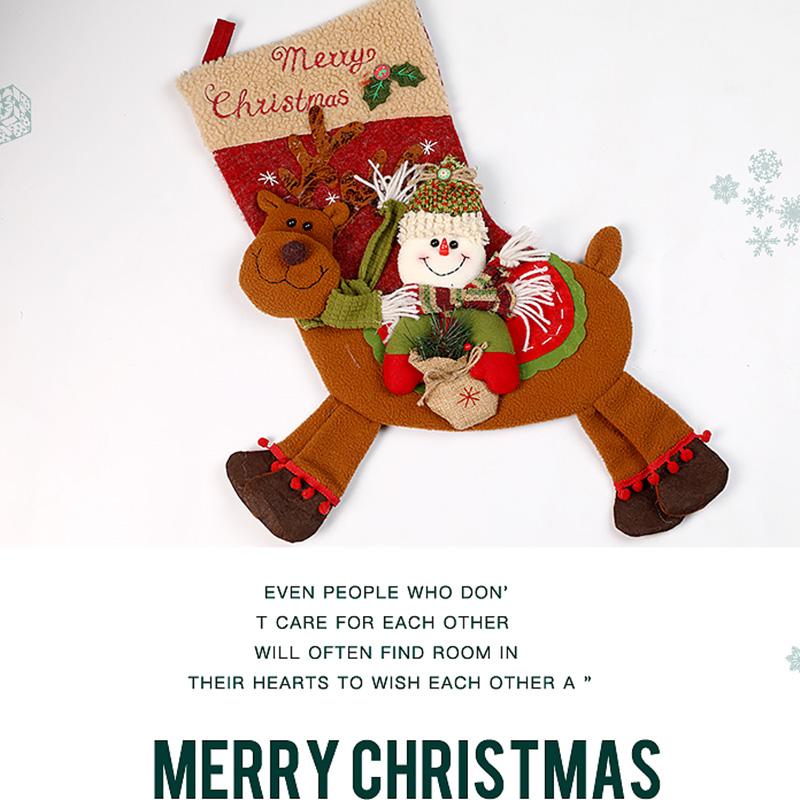 Weihnachtsstrumpf-GeschenktueTen-Weihnachtsschmuck-fuer-Zuhause-Neujahr-Gesch-G9K9 Indexbild 6