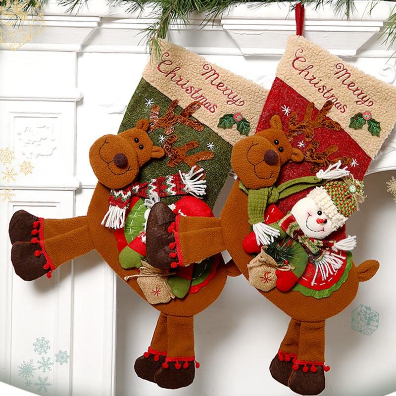 Weihnachtsstrumpf-GeschenktueTen-Weihnachtsschmuck-fuer-Zuhause-Neujahr-Gesch-G9K9 Indexbild 7
