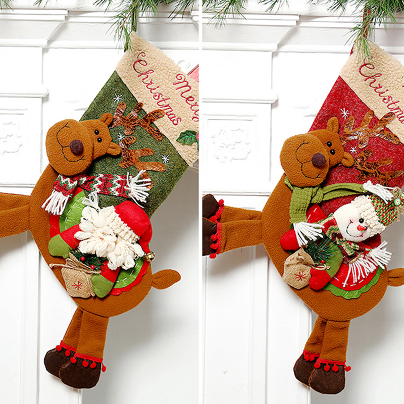 Weihnachtsstrumpf-GeschenktueTen-Weihnachtsschmuck-fuer-Zuhause-Neujahr-Gesch-G9K9 Indexbild 9