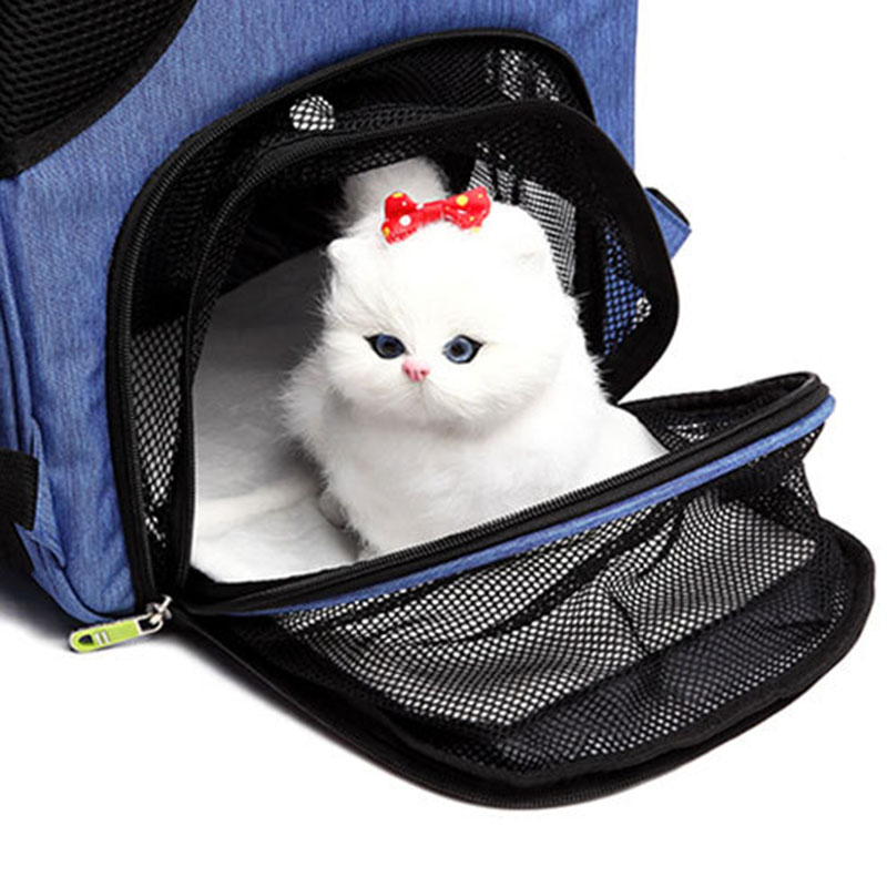 1X-Pet-Dog-Carrier-Backpack-Sac-Chiot-Chat-Chien-en-Plein-Air-RandonneE-Sac-F2Q4 miniature 9