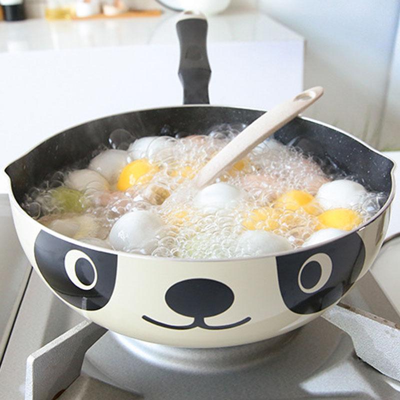 Panda-Pot-Japanese-Style-Induktionsherd-Universal-Bratpfanne-Antihaft-Alumi-I7N7 Indexbild 4
