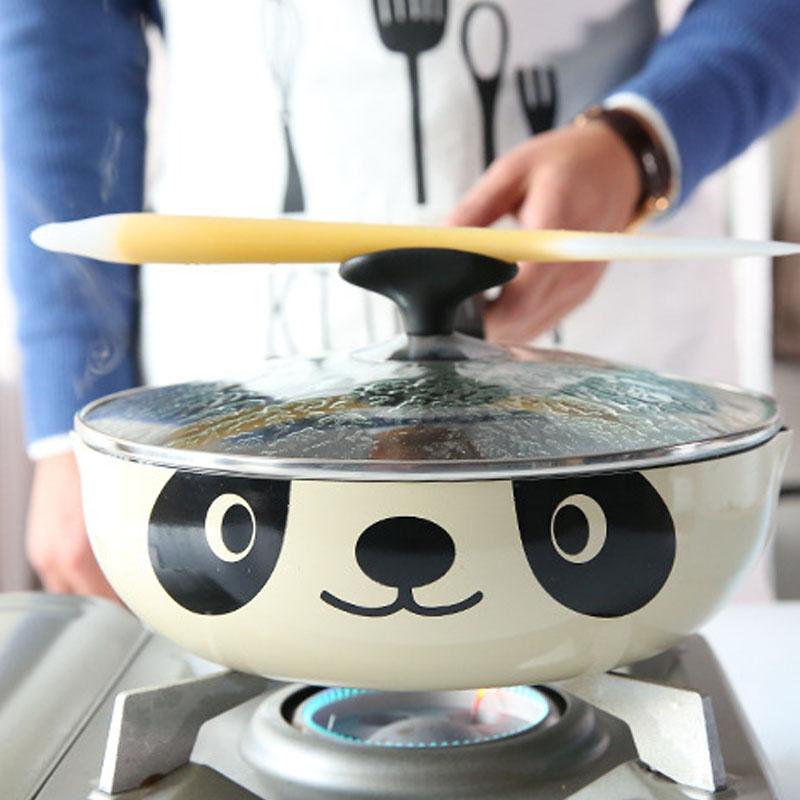 Panda-Pot-Japanese-Style-Induktionsherd-Universal-Bratpfanne-Antihaft-Alumi-I7N7 Indexbild 6