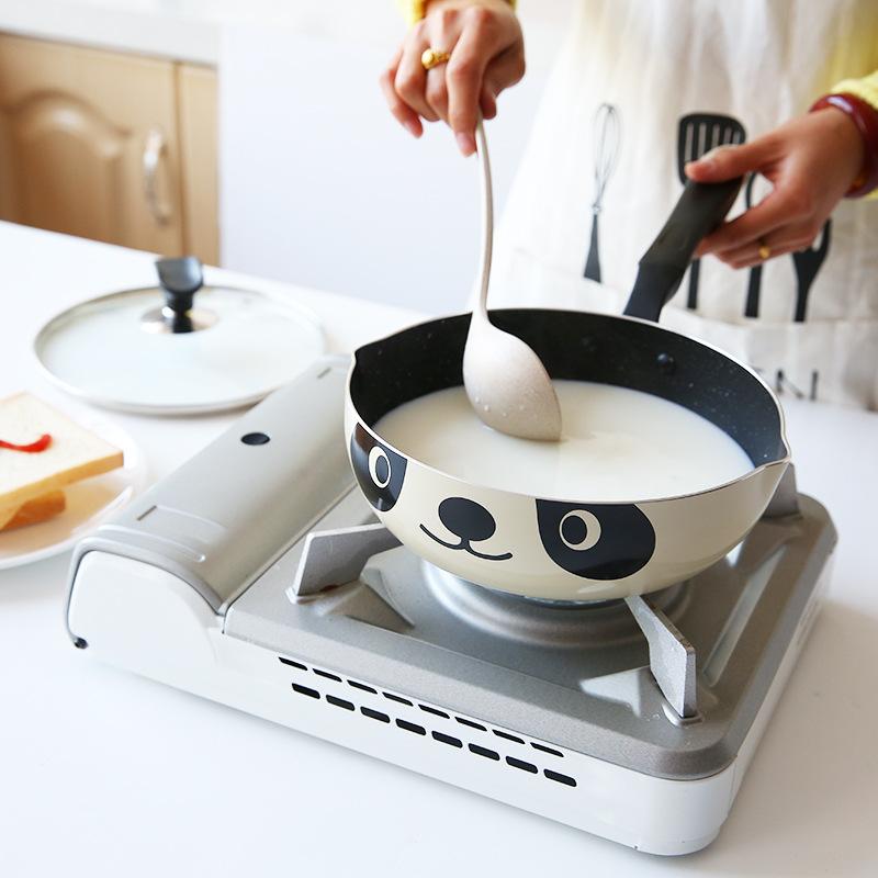Panda-Pot-Japanese-Style-Induktionsherd-Universal-Bratpfanne-Antihaft-Alumi-I7N7 Indexbild 7