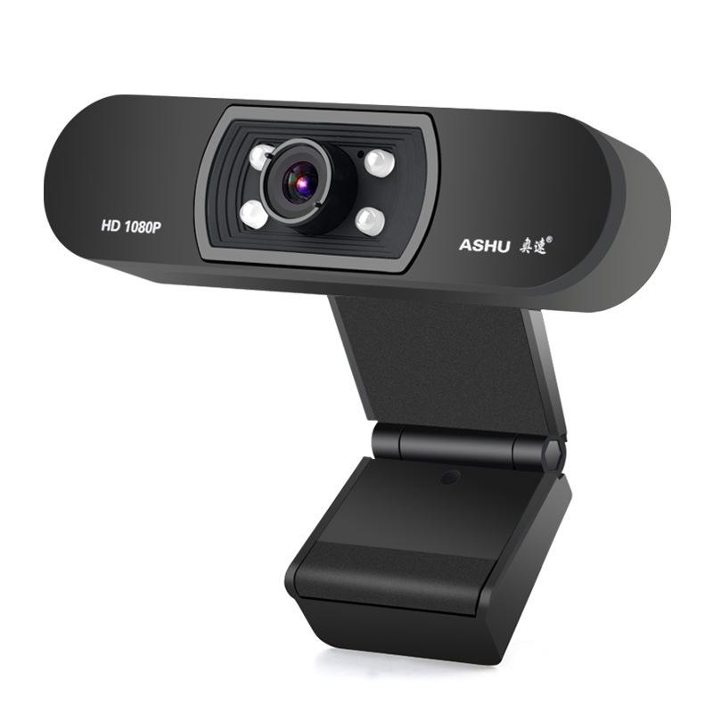 ASHU-CaMara-H800-HD-1080P-Video-Conferencia-Clip-Computadora-CaMara-MicroFo-F2E4 miniatura 3