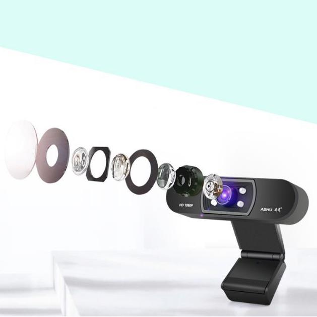 ASHU-CaMara-H800-HD-1080P-Video-Conferencia-Clip-Computadora-CaMara-MicroFo-F2E4 miniatura 7