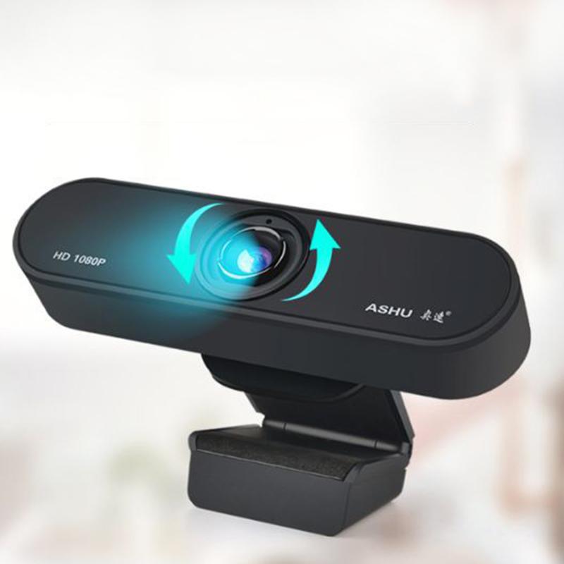 ASHU-CaMara-H800-HD-1080P-Video-Conferencia-Clip-Computadora-CaMara-MicroFo-F2E4 miniatura 8
