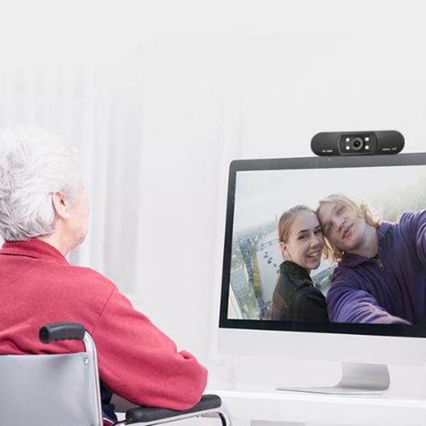 ASHU-CaMara-H800-HD-1080P-Video-Conferencia-Clip-Computadora-CaMara-MicroFo-F2E4 miniatura 9