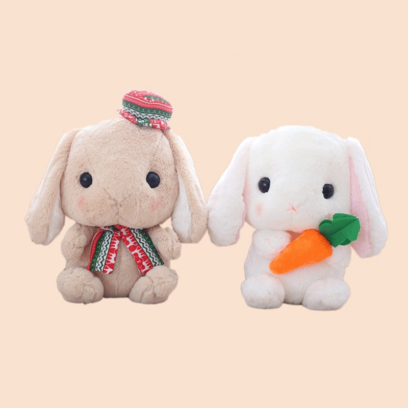 Long-Ear-Carrot-Rabbit-Plush-Toy-Bunny-Pillow-Plush-Doll-Grab-Doll-X9L2 thumbnail 3