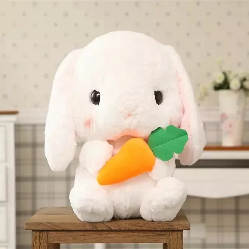 Long-Ear-Carrot-Rabbit-Plush-Toy-Bunny-Pillow-Plush-Doll-Grab-Doll-X9L2 thumbnail 4