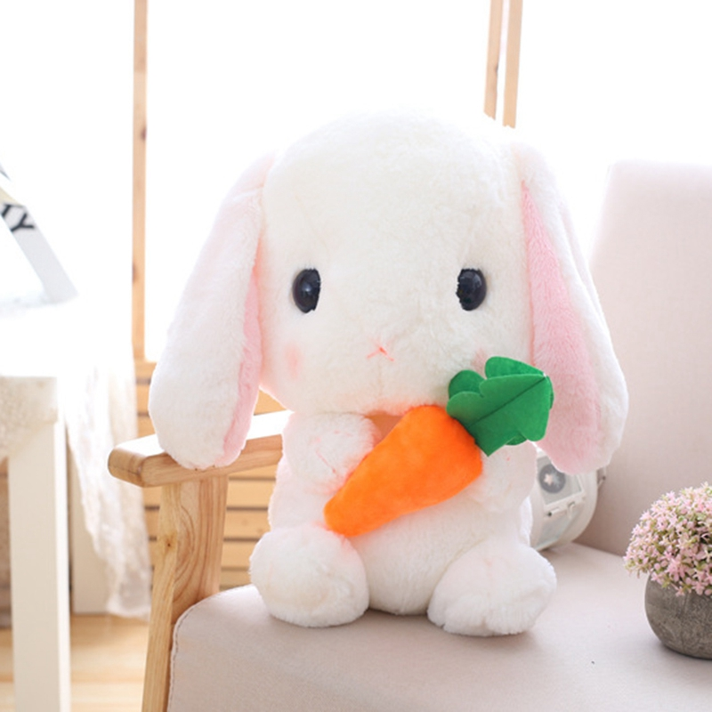 Long-Ear-Carrot-Rabbit-Plush-Toy-Bunny-Pillow-Plush-Doll-Grab-Doll-X9L2 thumbnail 5