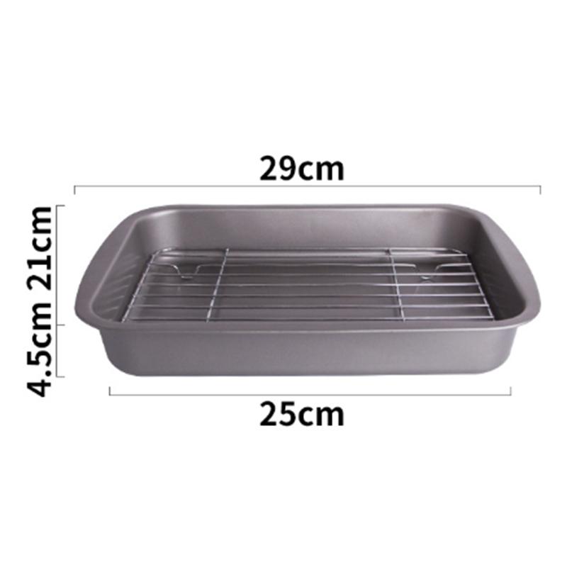 Baking-Tray-with-Removable-Cooling-Rack-Set-Baking-Pan-Sheet-Used-for-U5K7 thumbnail 3