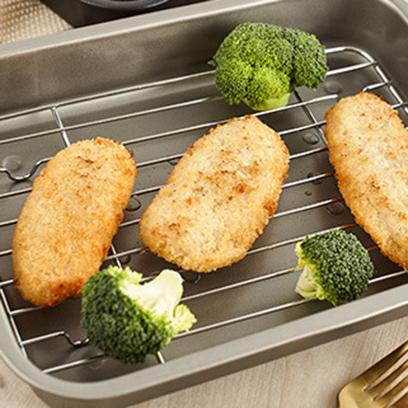 Baking-Tray-with-Removable-Cooling-Rack-Set-Baking-Pan-Sheet-Used-for-U5K7 thumbnail 4