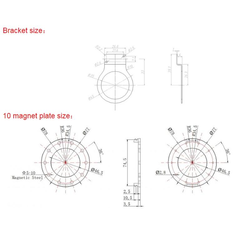 Elektrischer-Fahrrad-Sensor-10-Magnetischer-Punkt-Sensor-Leistungs-Sensor-M-X1B8 Indexbild 3