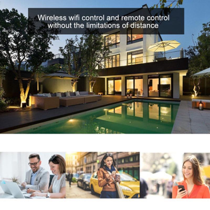 2X-Wifi-Smart-Bulb-LED-Licht-6W-Intelligente-Steuerung-fuer-Alexa-fuer-Google-U8X5 Indexbild 5