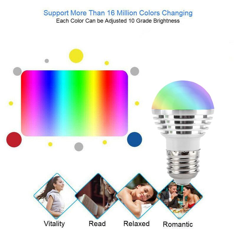 Wifi-Smart-Bulb-LED-Licht-6W-Intelligente-Steuerung-fuer-Alexa-fuer-Google-Ho-X3T1 Indexbild 3