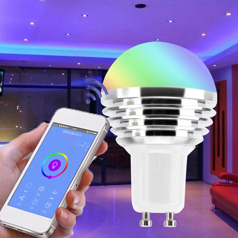 Wifi-Smart-Bulb-LED-Licht-6W-Intelligente-Steuerung-fuer-Alexa-fuer-Google-Ho-X3T1 Indexbild 6