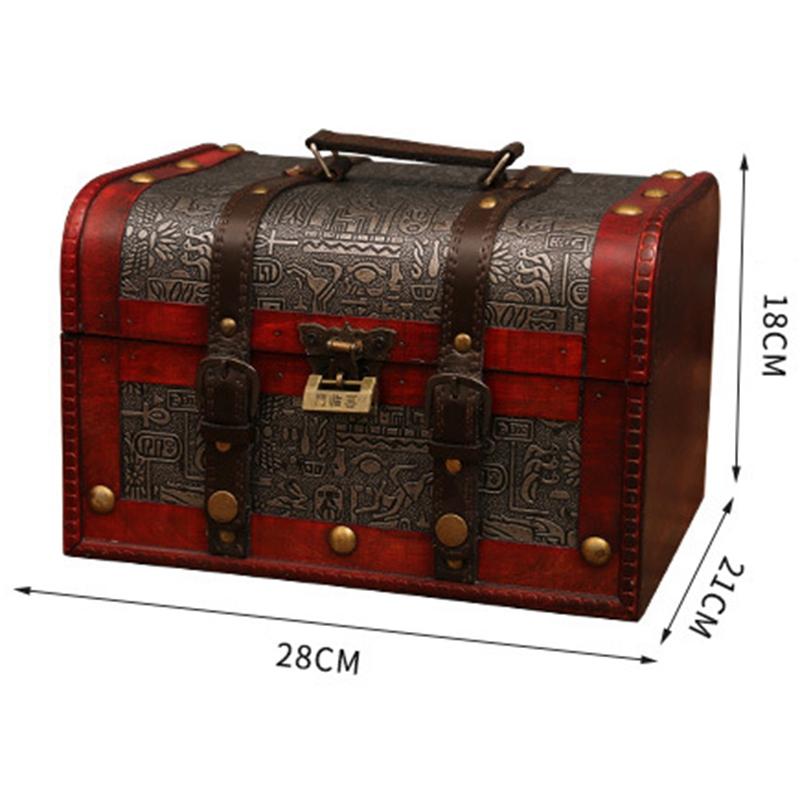 Schicke-HoeLzerne-Piraten-Schmuck-Aufbewahrungsbox-Fall-Inhaber-Vintage-Scha-Q1P3 Indexbild 3