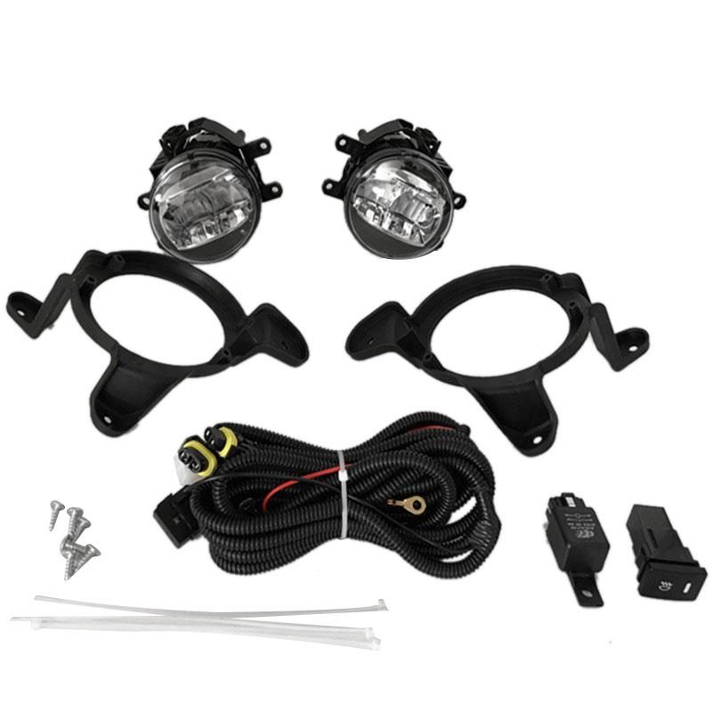 5x1 Pair Led Fog Lights Clear Lens Bumper Lamp Wiring