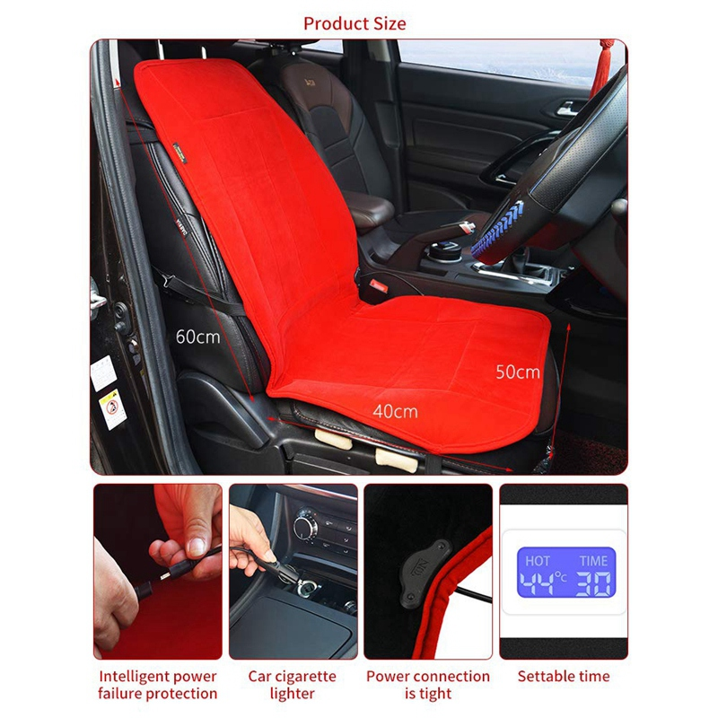 2Pcs-12V-Car-Seat-Heated-Cover-Heated-Seat-Cushion-with-Intelligent-Temper-W4H6 thumbnail 4