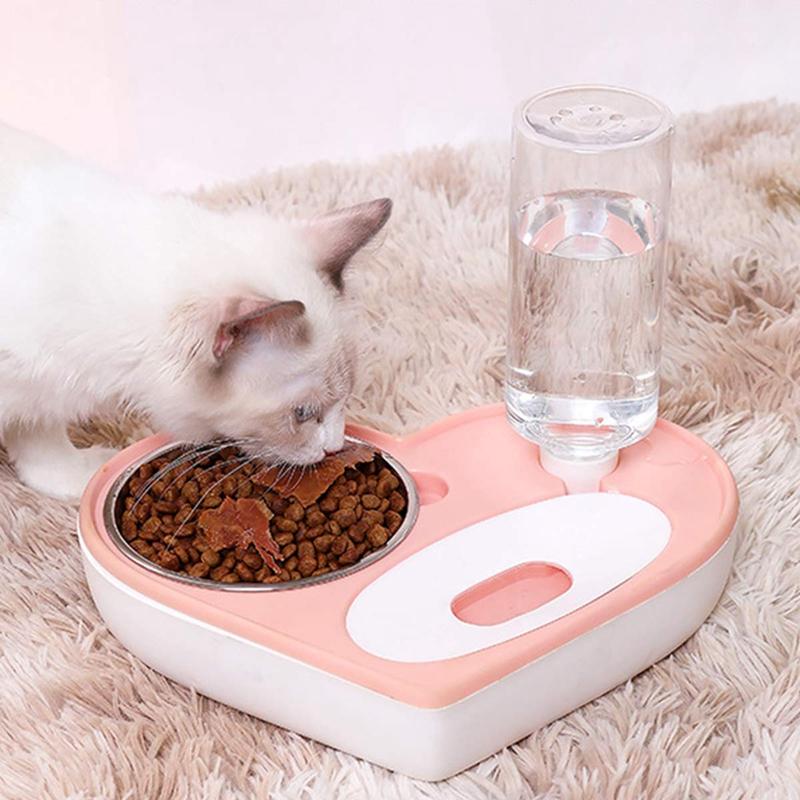 Juego-de-TazoN-de-Agua-y-Comida-para-Perros-y-Gatos-Dispensador-de-Agua-Au-N7G1 miniatura 3
