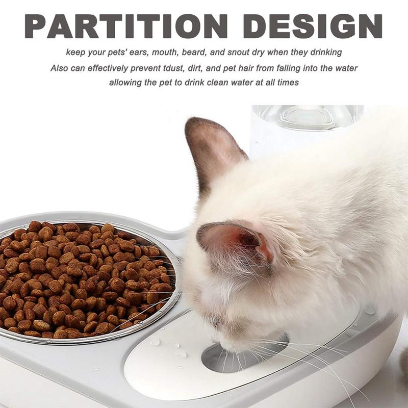 Juego-de-TazoN-de-Agua-y-Comida-para-Perros-y-Gatos-Dispensador-de-Agua-Au-N7G1 miniatura 8