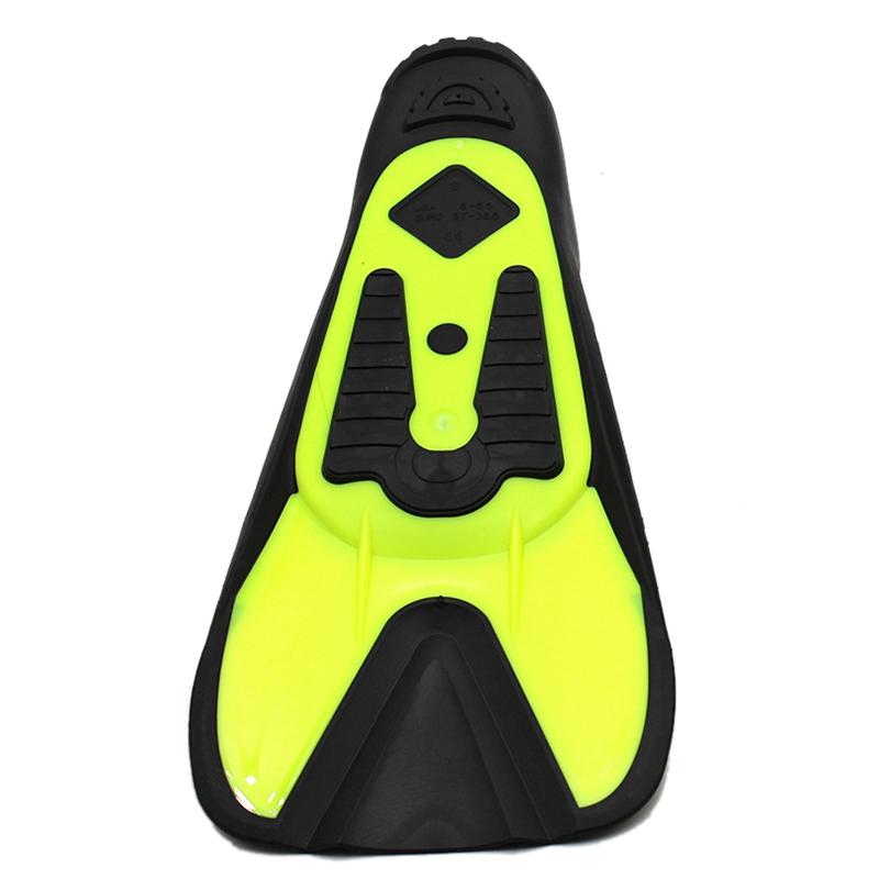 Flippers-Fins-Diving-Short-Fins-Adult-Children-Lightweight-Foot-Training-Sn-C8A6 thumbnail 3