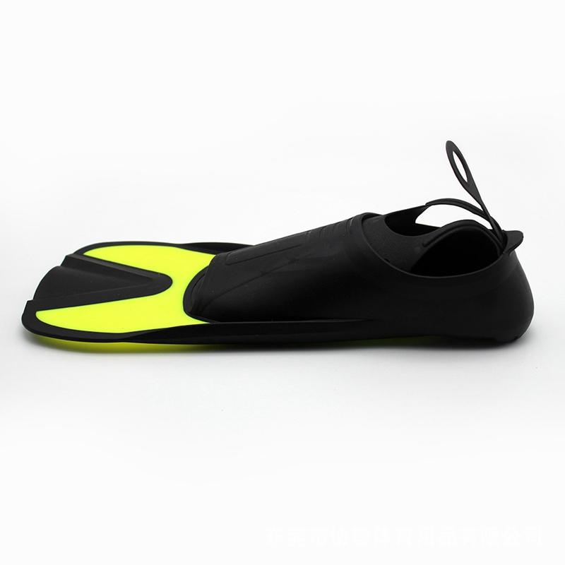 Flippers-Fins-Diving-Short-Fins-Adult-Children-Lightweight-Foot-Training-Sn-C8A6 thumbnail 4