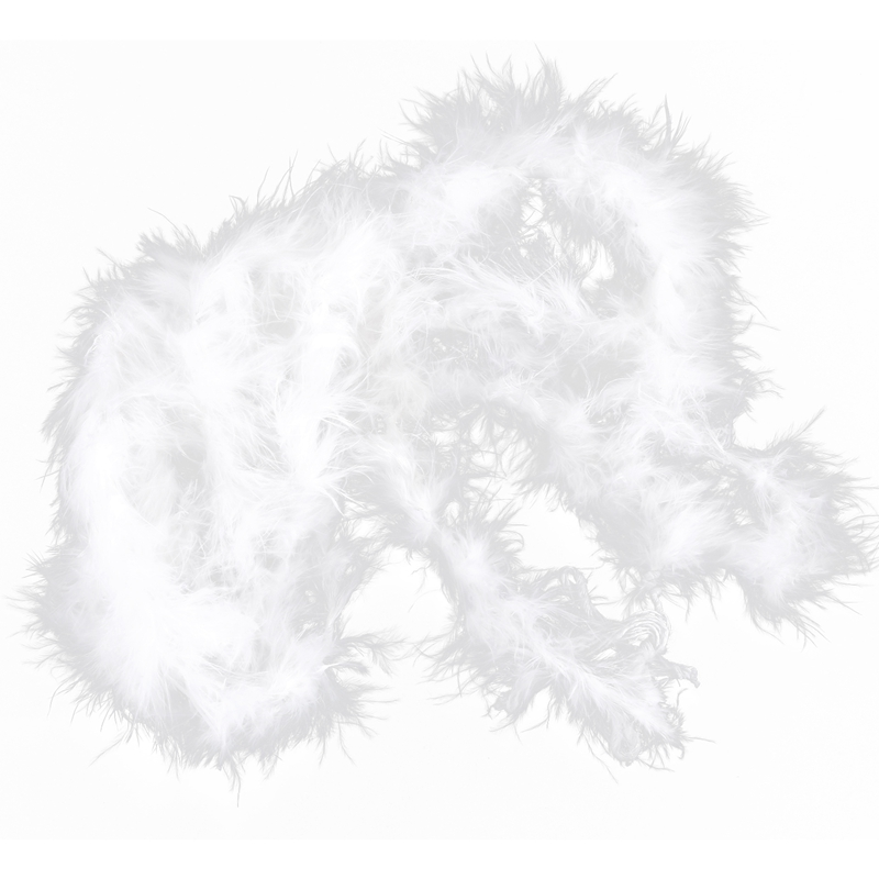 6 ft Marabou Feather Boa for Diva Night Tea Party Wedding White N3