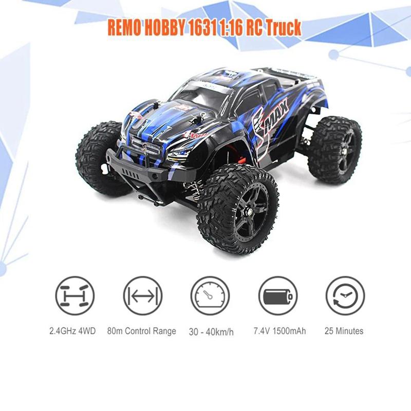 1631-1-16-2-4G-EleCtrico-4WD-Control-Remoto-CamioN-Juguetes-para-NinOs-Ench-R2I1 miniatura 13