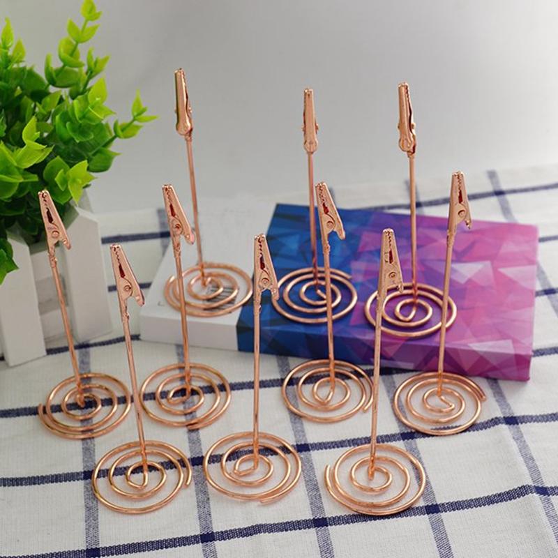 4-5-Pouces-Place-Titulaires-de-Cartes-12Pcs-NumeRo-de-Table-Stand-Titulair-O3R2 miniature 5