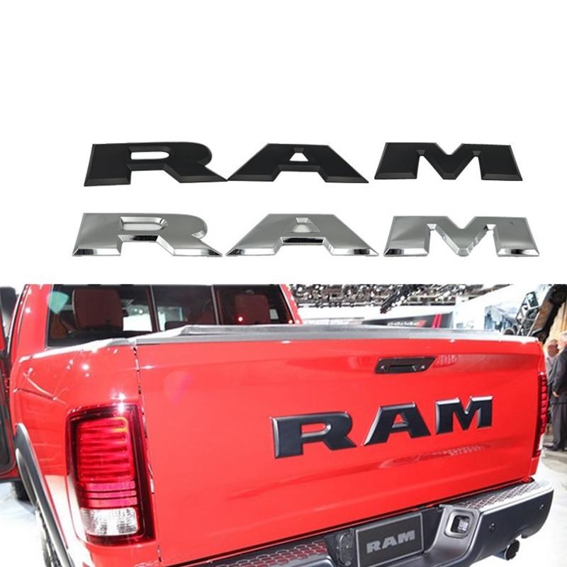 Un-Conjunto-de-Emblema-del-Logotipo-de-la-Letra-RAM-3D-del-PortoN-de-Coche-O4K4 miniatura 8