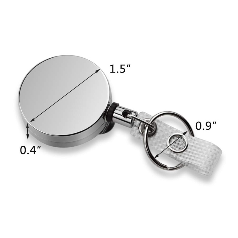 5X-4-Pack-Badge-Holder-Reel-Clip-Retractable-ID-Badge-Holder-with-Belt-Cli-A1J5 thumbnail 4