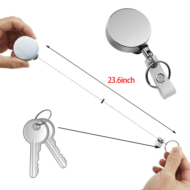 5X-4-Pack-Badge-Holder-Reel-Clip-Retractable-ID-Badge-Holder-with-Belt-Cli-A1J5 thumbnail 7