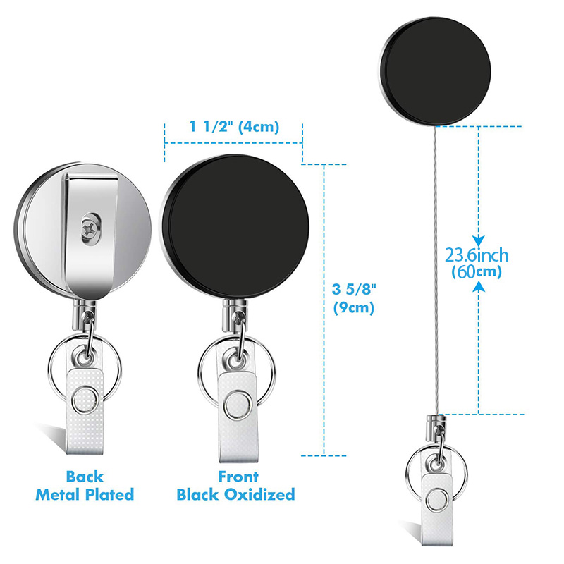 5X-4-Pack-Badge-Holder-Reel-Clip-Retractable-ID-Badge-Holder-with-Belt-Cli-A1J5 thumbnail 10