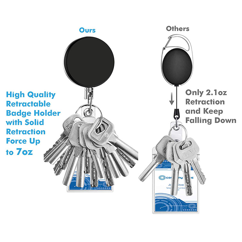 5X-4-Pack-Badge-Holder-Reel-Clip-Retractable-ID-Badge-Holder-with-Belt-Cli-A1J5 thumbnail 12