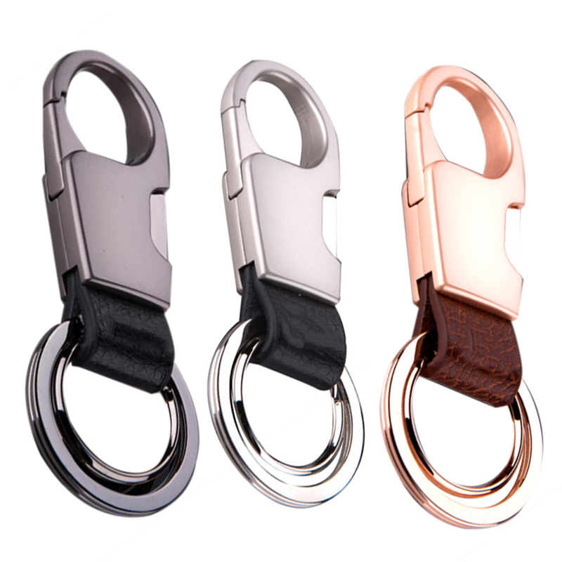5X-Leather-Key-Chain-Men-and-Women-Durable-Car-Key-Ring-Stainless-Steel-Ke-M2M4 thumbnail 7