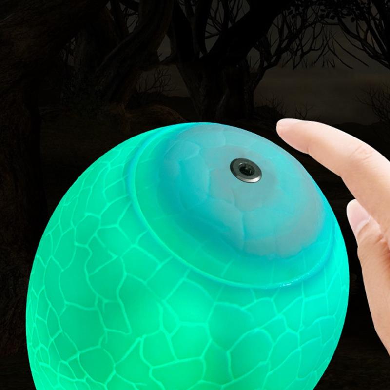 Dinosaurier-Spielzeug-Ei-Lampe-Lichter-16-Farben-Dinosaurier-Nachtlicht-Nach-iko Indexbild 4