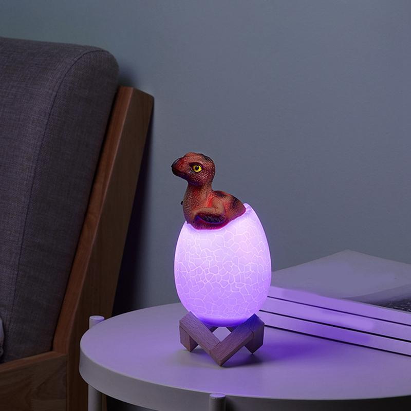 Dinosaurier-Spielzeug-Ei-Lampe-Lichter-16-Farben-Dinosaurier-Nachtlicht-Nach-iko Indexbild 6